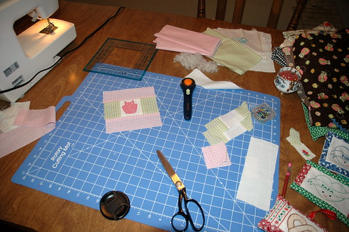working/sewing/having fun