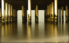 Calm (zilverbat.) Tags: longexposure sea holland water netherlands dutch 50mm pier exposure raw meetup scheveningen postcard nederland meeting denhaag le flickrmeet minimeetup sv zilverbat pierinscheveningen sigma50mm14primelens