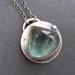 flourite charm pendant (NRjewellerydesign) Tags: sea green necklace charm jewellery pendant patina flourite sterlingsilver nrjewellerydesign