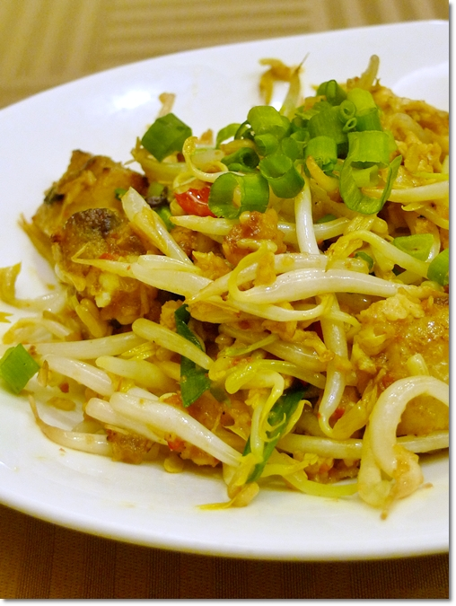 Fried Radish Cake with Bean Sprouts