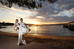 @ Watsons Bay (ozczecho) Tags: wedding summer love beach groom bride couple czech sydney nsw weddingday watsonsbay partners svadba summerwedding ozczecho d700 29dec2010 michalbohunka