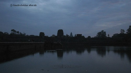 Dawn breaks at angkor
