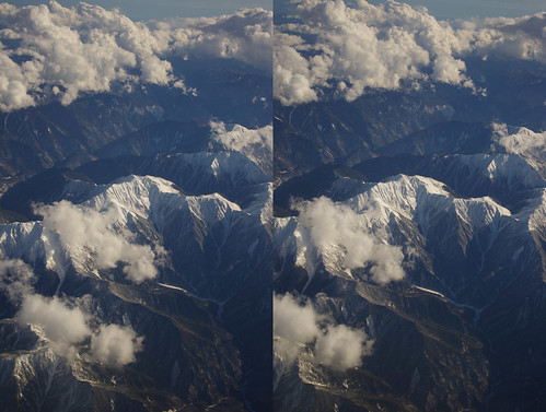 Mount Akaishi, stereo parallel view