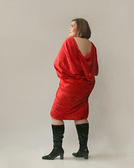 wrapped in red (funkygreeneyedlady) Tags: bbw boudoir gogoboots bbwmodeling redbbwmodelingboudoirsexybbw