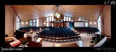 003 - 365 - Preacher's View (ronny..) Tags: panorama church nikon interior interieur 365 uitzicht kerk d90 tokina1224f4 project365 predikant threesixtyfive project36612011 2011yip 3652011 2011inphotos threehunderdsixtyfive preachersview droptheshutter