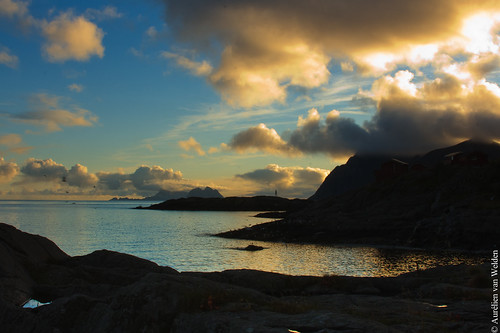 September sunset in Å i Lofoten