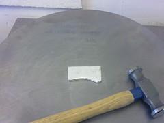 Ingot ready for hammering