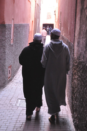 Men walking, Marrakesh