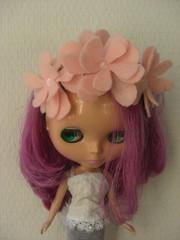 Pale Pink flowers headband