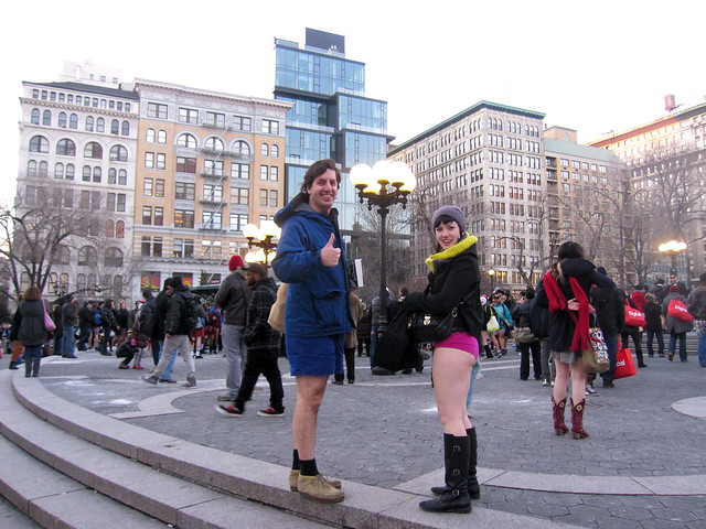 alex & steph in union square