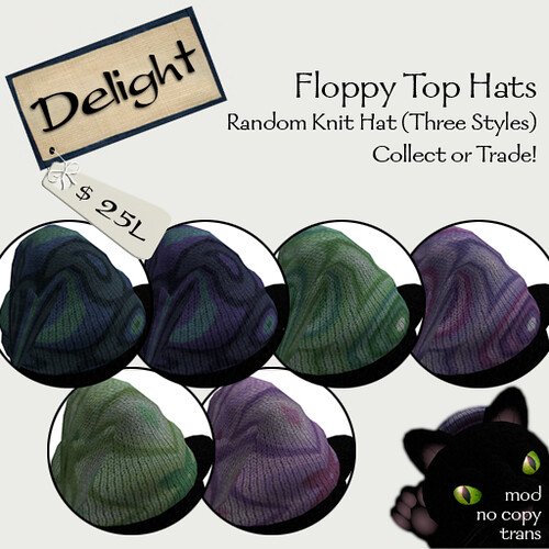 ~Delight~ Floppy Top Hats