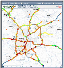 Atlanta, Noon, Snowpocalypse. This was Monday's map but it's representative of Tuesday