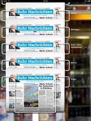 Ruhr Nachrichten iPad-App: Kiosk der einzelnen Ausgaben