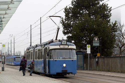 Ohne Beiwagen musste dieser P-Wagen auskommen, als er am Nachmittag auf die Linie 21 ausrückte.