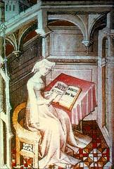 Christine de Pizan in Her Studies (Cea.) Tags: writing studio reading mirror book ama christinedepizan