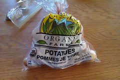 Package of organic potatoes