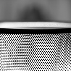 wastebasket structure (andreas gessl) Tags: blackandwhite bw abstract macro square focus pattern geometry structure minimalism makro wastebasket minim