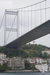 The Bosphorus Bridge (Eiretrains) Tags: city bridge sea turkey suspension istanbul bosphorus spanning