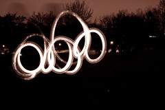 In the right light, at the right time, everything is extraordinary. (Elle-za) Tags: lightpainting london canon newyearseve primrosehill eos500d
