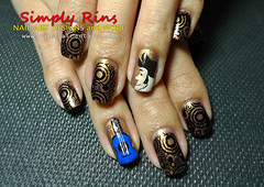 Elvis Rock and Roll Nail Art by Simply Rins