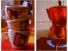 prendiamoci i nostri spazi (sembra talco ma non , serve a darti l'allegria) Tags: red milan home table casa nikon milano cups rosso tavolo coffeepot caffettiera tazze d5000