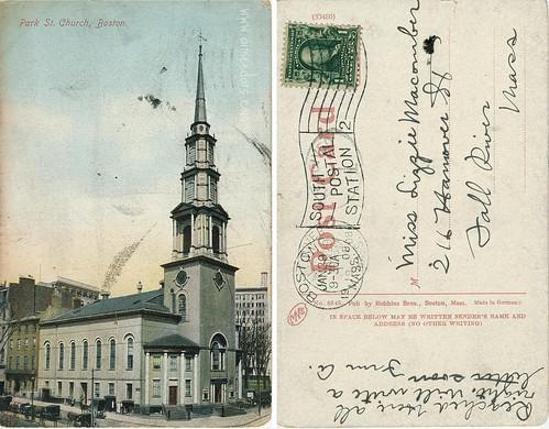 Park St. Church, Boston