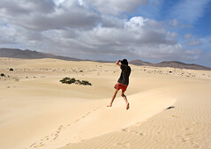 Long jump....(with a larger than usual sandpit) (Bruus UK) Tags: sand dunes fuerteventura canaries canaryislands playasgrandes