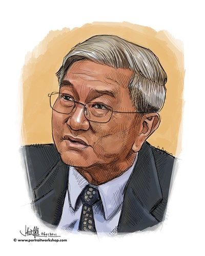 Digital portrait of D Chin
