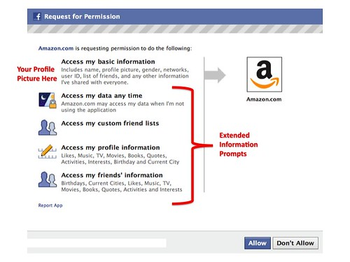 Facebook Graph API Extended Info Prompts