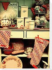 Vintage (We Are Quixotic) Tags: red england yellow vintage tea teapots wearequixotic