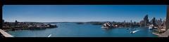From on the Sydney Harbour Bridge (Doug Mo (Gone Vagabonding)) Tags: summer panorama downtown adobephotoshop sydney january australia northshore newsouthwales photomerge cbd therocks citycenter citycentre sydneyharbour 2010 sydneyharbourbridge centralbusinessdistrict multiexposure milsonspoint oceania millerspoint portjackson adobelightroom thecoathanger adobelightroom3 adobephotoshopcs5 lrmogrify2