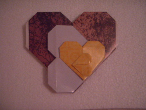 Origami #12: Four Hearts