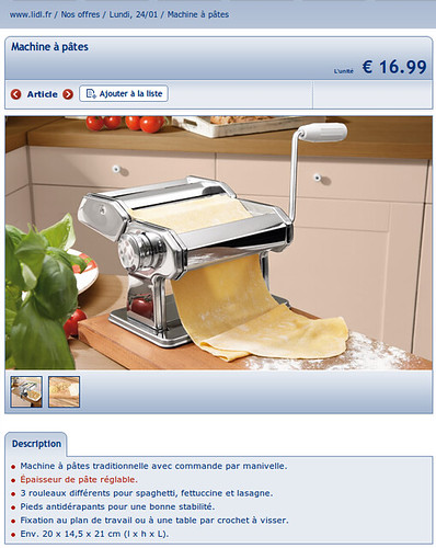 machine à pâtes lidl