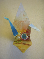 Bonus Origami: Crane (LikelyYarns) Tags: origami crane origamicrane origamibird makesomething365 365makesomething