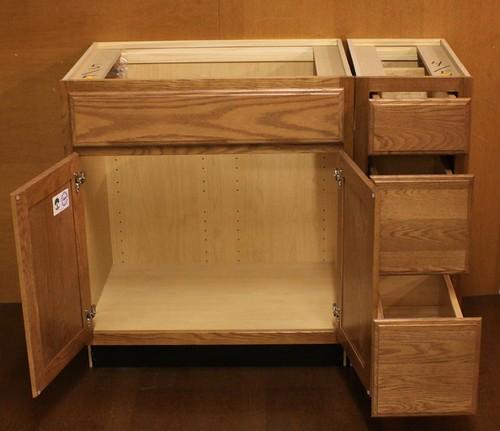 details about kraftmaid oak bathroom vanity sink base cabinet 42