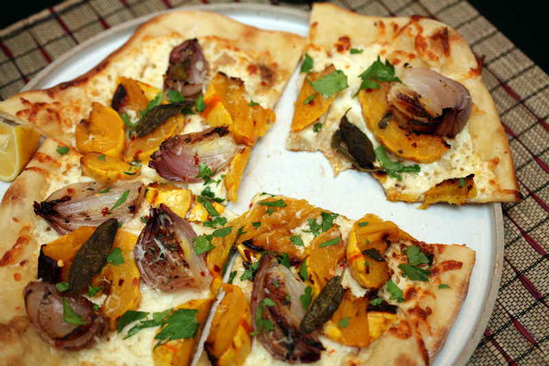 pizza | roasted delicata squash & red onion
