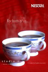 For both of us... (RzzA) Tags: red white black hot coffee for us nikon both espresso nescafe reza lahore nestle studior d90 rzza wwwstudiorbiz