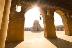 Mosque of Ibn Tulun ({HOOK}) Tags: africa winter summer eos rebel islam egypt middleeast sigma wideangle mosque sunbath cairo arabia islamic sigma1020