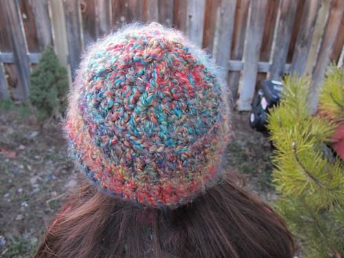Fuzzy Rainbow Hat #4