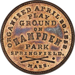 Pioneer Base Ball Club token reverse