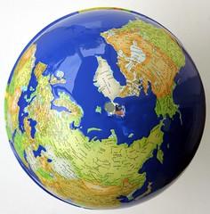 Peinture des eaux, globe Montessori