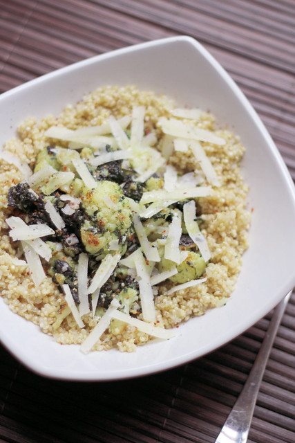 Spinach, Cauliflower and Pecorino Quinoa