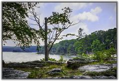 Rocks and lake (jsleighton) Tags: rocks lake trees sky landscape bearmountain