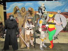 IMG_3433 (foodbyfax) Tags: cincinnaticomicexpo cosplay kyloren chewbacca boussh bobafett hawkgirl starwars