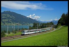 SOB Voralpenexpress, Immensee 17-07-2016 (Henk Zwoferink) Tags: immensee schwyz zwitserland voralpen express sob sudostbahn voralpenexpress henk zwoferink
