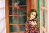 Jane in Japanese house (Lã Dung) Tags: mmk momoko japanese corner roombox dollhouse miniature traditional handmade crafts madebyladung petwork doll