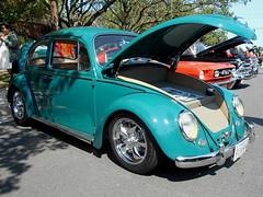 1966 Volkswagen Beetle (splattergraphics) Tags: 1966 volkswagen beetle vw volksrod carshow fairfaxlabordaycarshow fairfaxva