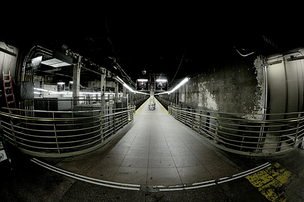 Empty train track at Grand Central Station, NYC, New York by Karen Strunks