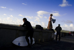 Lahinch Prom 1 (jill.f) Tags: clare surfer prom surfboard lahinch