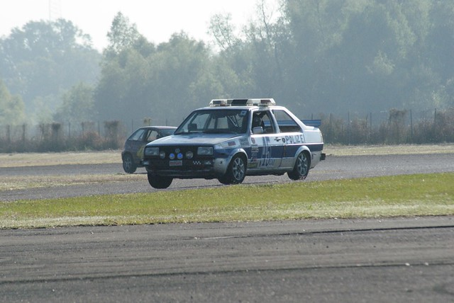 SNAFU Racing's police Jetta